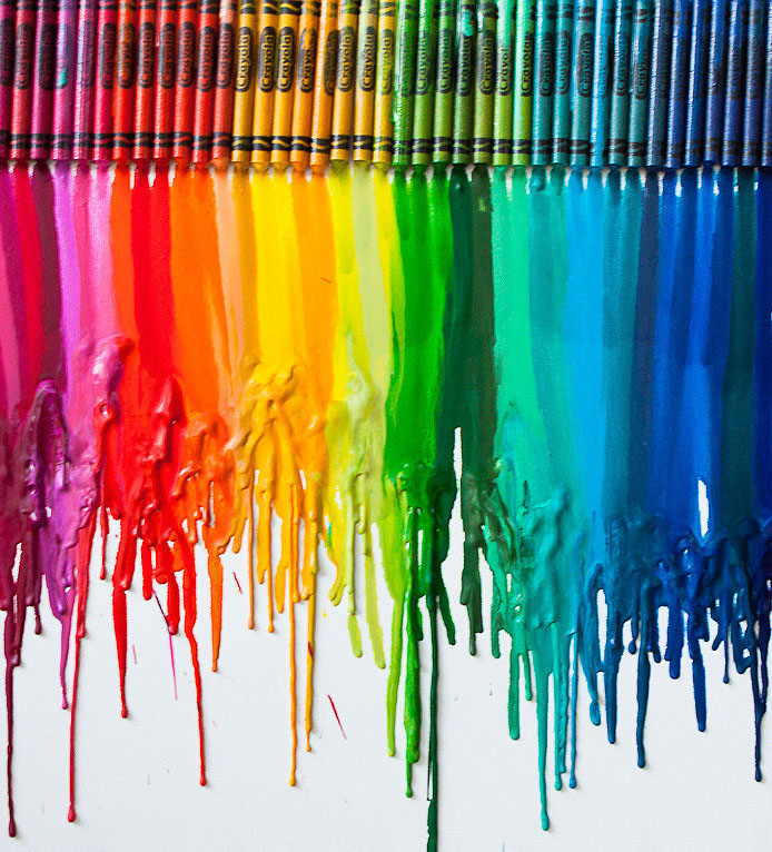 Melted-Crayon-Art